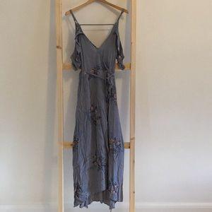 Astr Paisley Wrap Dress